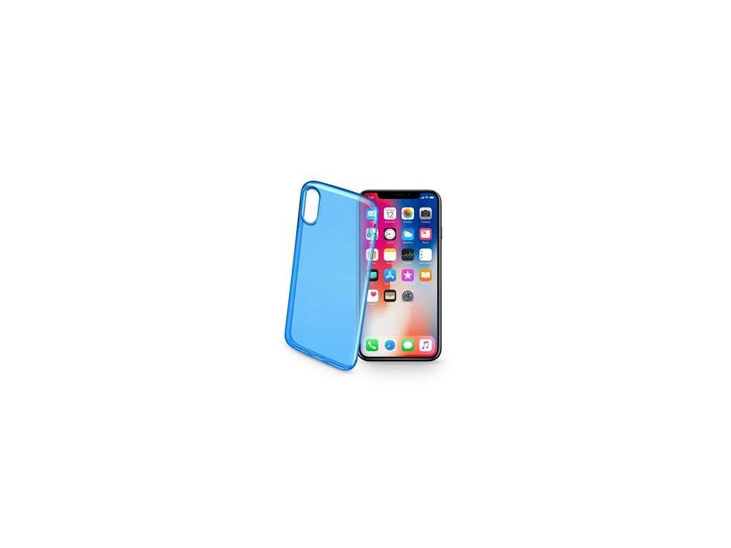 Barevné gelové pouzdro CELLULARLINE COLOR pro Apple iPhone X / XS, modré