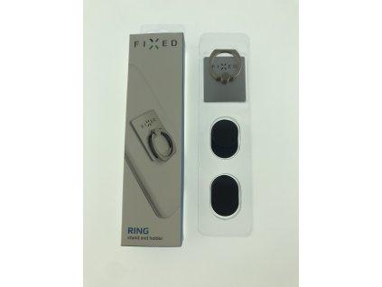 Prstýnek se stojánkem a držákem FIXED Ring pro mobilní telefony, stříbrný