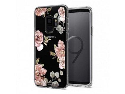 Spigen pouzdro Liquid Blossom Samsung G960 S9, květiny