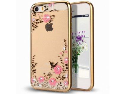Bloomy stylové pouzdro Flower Cover Samsung Galaxy J3 2017 J330, gold