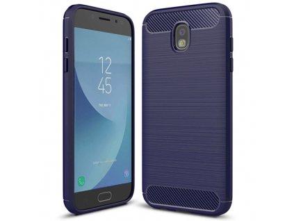 Karbonové pouzdro flexibilní TPU pro Samsung Galaxy J5 2017 J530, modré
