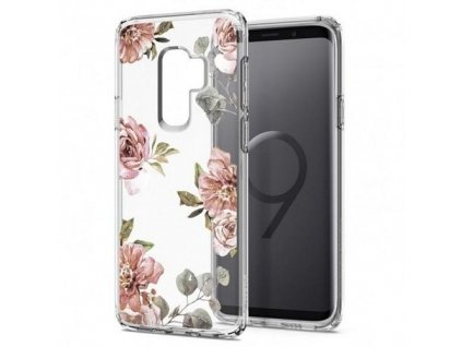 Spigen Liquid Crystal pouzdro Samsung Galaxy S9+ Plus Blossom Flower
