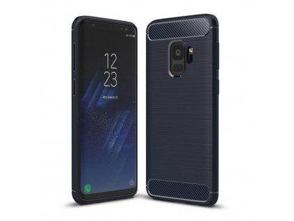 Karbonové pouzdro TPU pro Samsung Galaxy S9 G960, modré