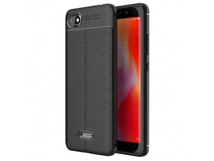 Litchi Pattern flexibilní kryt TPU pro Xiaomi Mi A2 Lite / Xiaomi Redmi 6 Pro, černé