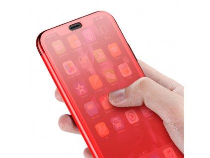 Pouzdro BASEUS pro Apple iPhone XS Max plastové / gumové, červené