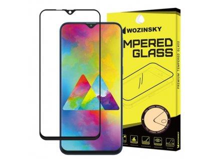 Wozinsky Full Glue tvrzené sklo Samsung M10, zakřivené černé