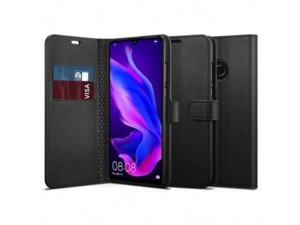 Spigen Wallet S Saffiano knížkové pouzdro pro Huawei P30 Lite, black