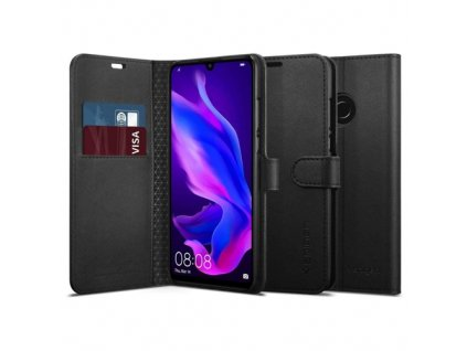 Spigen Wallet S Saffiano pouzdro pro Huawei P30 Lite, black