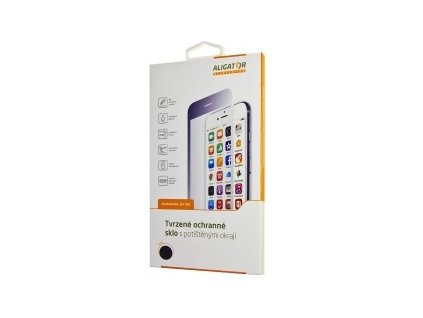 Ochranné tvrzené sklo pro iPhone 7 Plus / 8 Plus, černá-GLASS PRINT