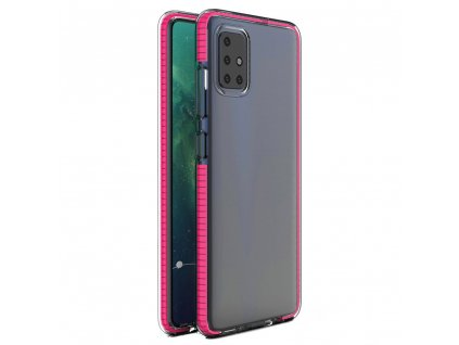 Spring Case clear TPU gel Xiaomi Redmi Note 9 Pro Redmi Note 9S pink