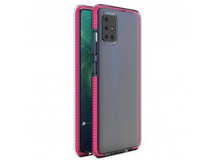 Spring Case clear TPU gel Xiaomi Redmi Note 9 Pro Redmi Note 9S pink