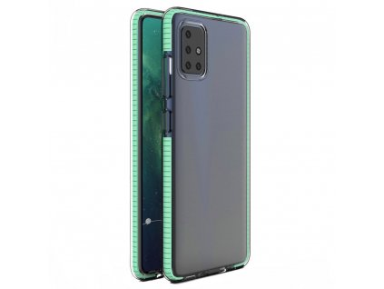 Spring Case clear TPU gel Xiaomi Redmi Note 9 Pro Redmi Note 9S mint