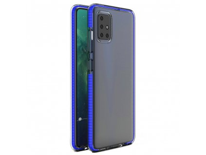 Spring Case clear TPU gel Xiaomi Redmi Note 9 Pro Redmi Note 9S blue