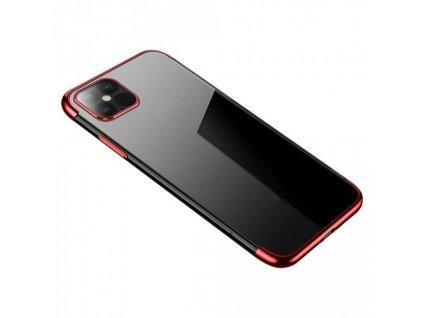 Silikonové pouzdro s barevným rámečkem pro iPhone 12 mini, červený