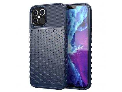 Thunder silikonové pouzdro pro iPhone 12 / 12 Pro, modrý