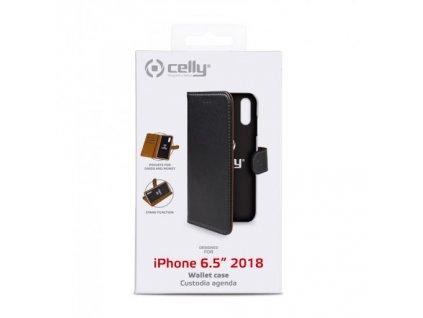 Pouzdro / kryt pro iPhone XS MAX - CELLY, Wally, černé