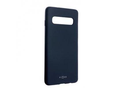 Samsung Galaxy S10, zadní pogumovaný kryt FIXED Story, modrý
