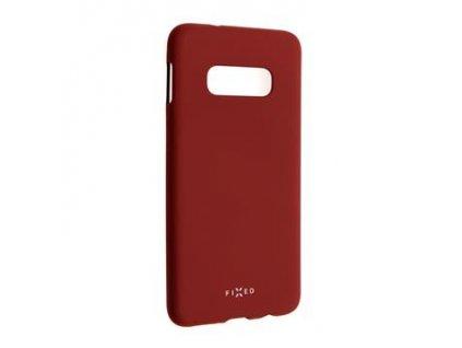 Samsung Galaxy S10e, zadní pogumovaný kryt FIXED Story, červený