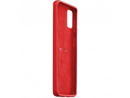 Samsung Galaxy A71, ochranný silikonový kryt Cellularline SENSATION, červený