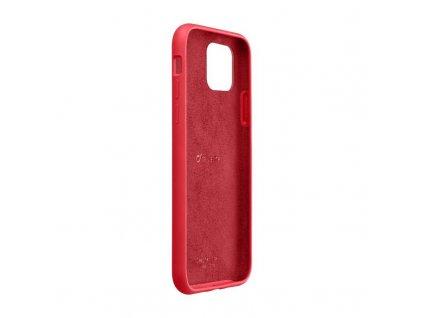 Apple iPhone 11 Pro Max, ochranný silikonový kryt CellularLine SENSATION, červený