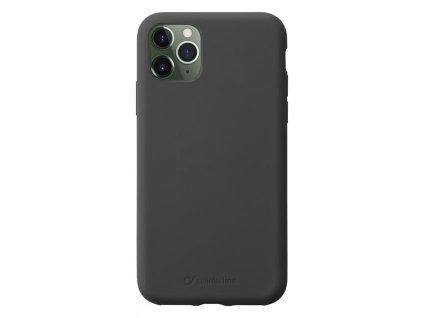 Apple iPhone 11 Pro Max, ochranný silikonový kryt CellularLine SENSATION, černý