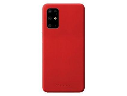 Samsung Galaxy S20 Plus, ochranný silikonový kryt CellularLine SENSATION, červený