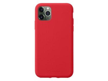Apple iPhone 11 Pro , ochranný silikonový kryt CellularLine SENSATION, červený