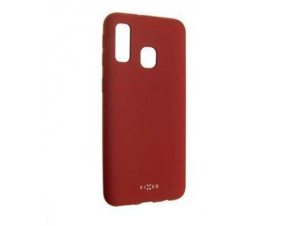 Zadní pogumovaný kryt FIXED Story pro Samsung Galaxy A40 , červený