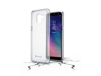 Zadní čirý kryt s ochranným rámečkem CellularLine Clear Duo pro Samsung Galaxy A6 (2018)