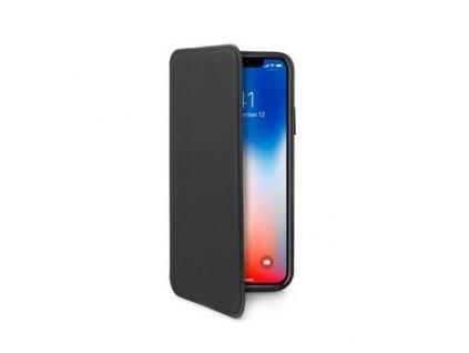 Pouzdro typu kniha CELLY Prestige pro Apple iPhone X / XS, PU kůže, černé