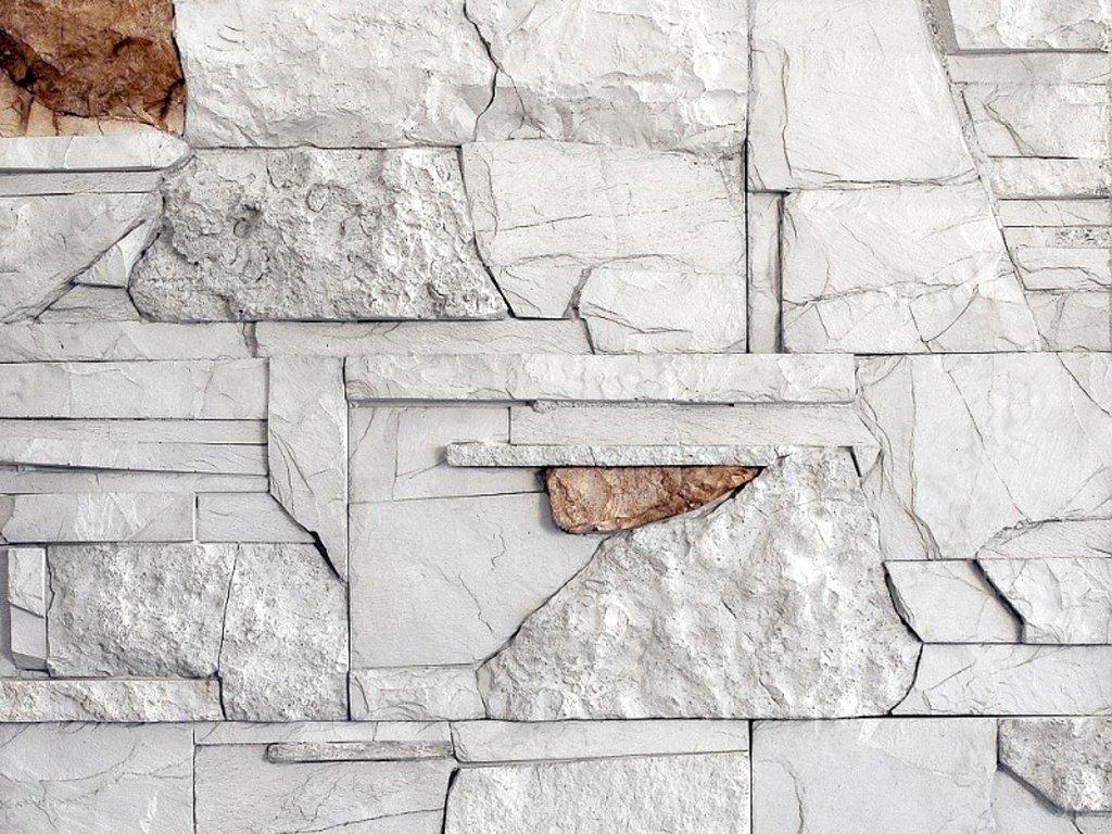 Kámen lámaný VASPO MIX bílo-šedý