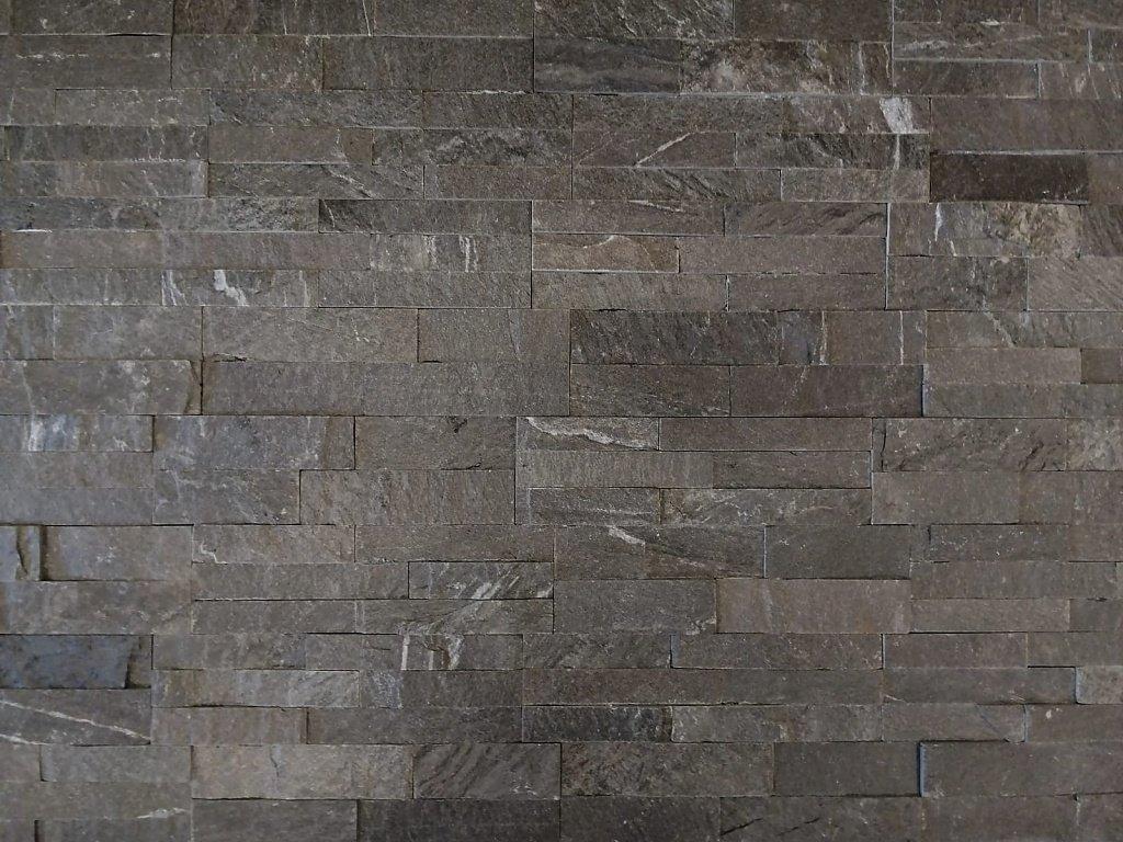 Kamenný obklad VIPSTONE Břidlice šedo-černá