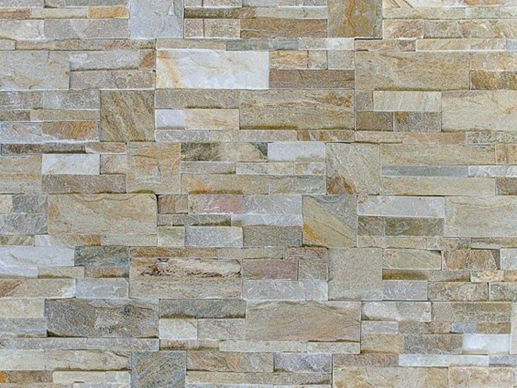 Přírodní kámen WALLSTONE Q010 - GOLDEN QUARZITE lepený