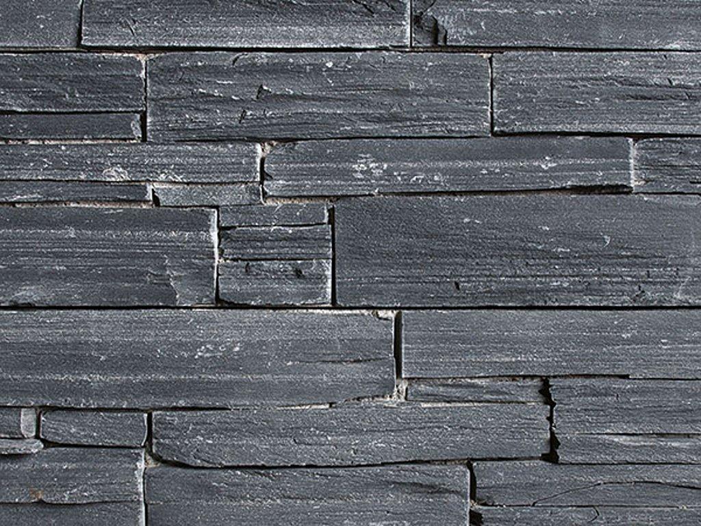 Přírodní kámen WALLSTONE N 3003 Black Slate na síťce
