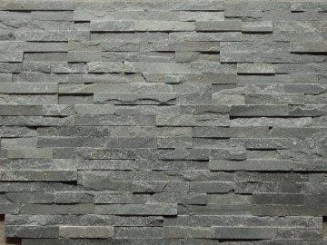 Kamenný obklad VIPSTONE Kvarcit šedý - tenký pásek
