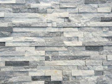 Kamenný obklad VIPSTONE Kvarcit šedo-bílý