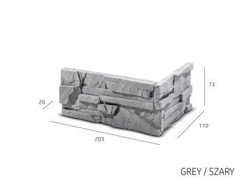Betonový roh Steinblau Sorrento šedá
