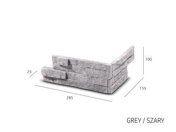 Betonový roh Steinblau Vertigo šedý