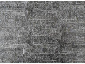 Kamenný obklad VIPSTONE Kvarcit tmavě šedý s kostkou