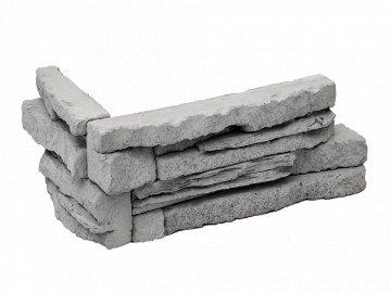 Betonový roh VASPO Kámen Považan šedý