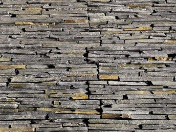 Přírodní kámen WALLSTONE N3005 Black&Rusty Slate na síťce