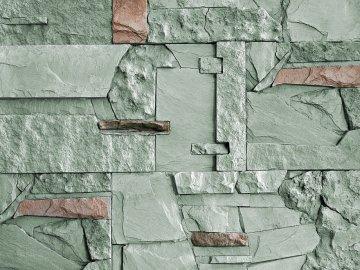 Kámen lámaný VASPO MIX zeleno-šedý