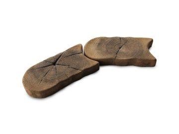 Betonová trávníková obruba imitace dřeva