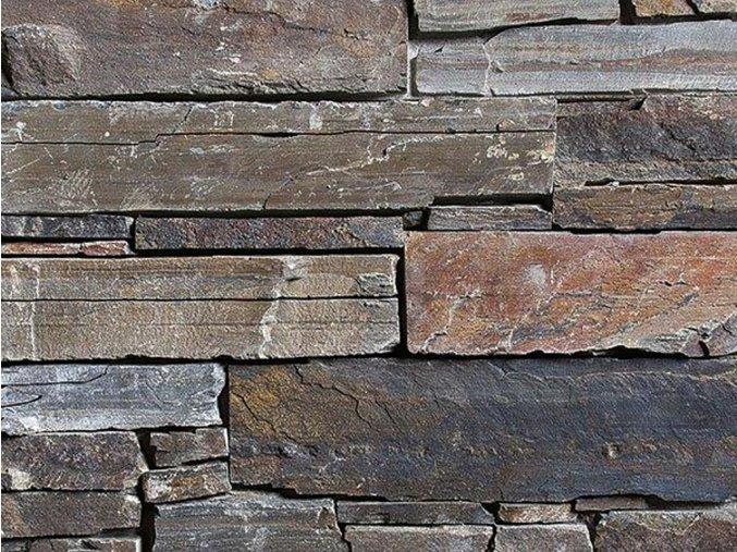 Přírodní kámen WALLSTONE N3002 Multicolour Slate na síťce