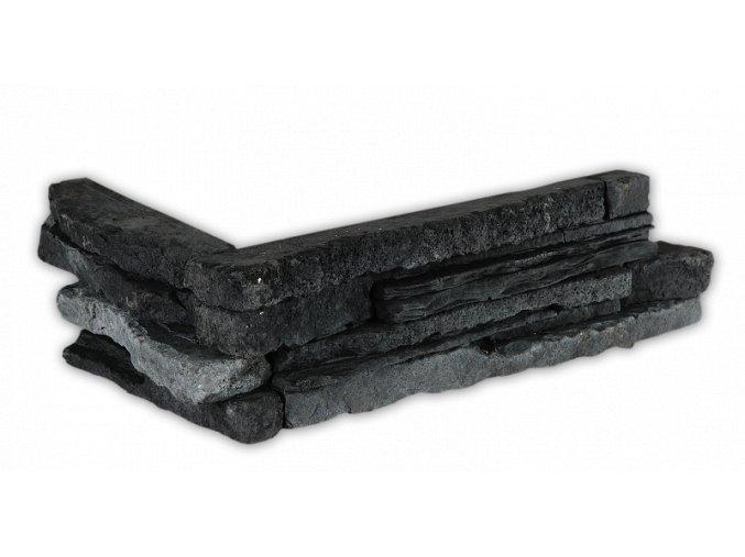 Betonový roh VASPO Kámen Považan černý