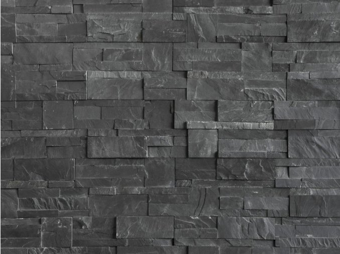 Kamenný obklad VIPSTONE Břidlice černá