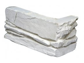 Betonový roh Magicrete břidlice - Shale bílý