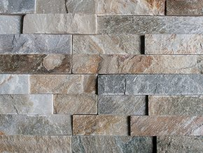 Přírodní kámen WALLSTONE Q001 - QUARZITE MIX lepený