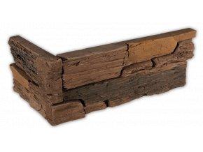 Betonový roh VASPO Břidlice Hradní hnědá