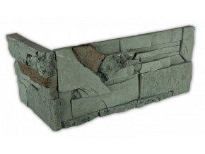 Betonový roh VASPO Kámen lámaný MIX zeleno-šedý